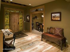 Love this green color with the western decor.