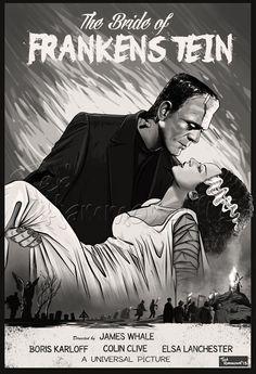 The Bride of Frankenstein by ted1air on DeviantArt