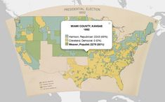 Presidential Election, 1892 - The Atlas of the Historical Geography of the United States is reincarnated for the digital age by the University of Richmond's Digital Scholarship Lab. The maps are georeferenced and georectified using #Esri #ArcGIS.
