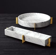 Mataro Marble and Brass Trough Collection - marble accessories - Plywood Furniture, Marble Furniture, French Furniture, Bathroom Furniture, Rustic Furniture, Modern Furniture, Furniture Design, Luxury Furniture, Furniture Ideas