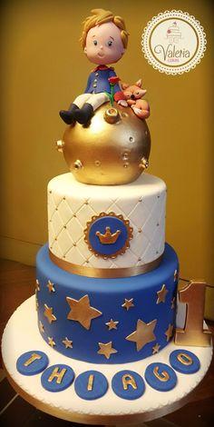 Little prince cake! Little prince cake! Boys First Birthday Cake, Prince Birthday Party, Baby Birthday Cakes, Baby Boy Cakes, Cakes For Boys, Little Prince Party, The Little Prince, Beautiful Cakes, Amazing Cakes