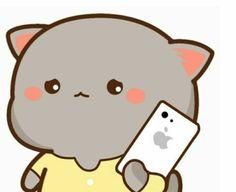 Cute Cartoon Images, Cute Cartoon Wallpapers, Cute Images, Cute Baby Cats, Cute Cat Gif, Cute Kawaii Backgrounds, Chibi Cat, Cat Couple, Little Panda