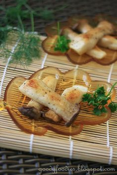 Japanese Salt Grilled Eryngii (King Trumpet) Mushrooms (Kinoko no shioyaki)