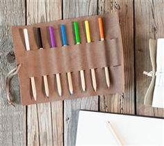 Make It Now With Cricut Explore - Leather Pencil Holder * Yes, it cuts leather!!! So cool!