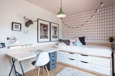 Quarto Adolescente: +95 Ideias e Projetos Originais para 2021 Room Ideas Bedroom, Kids Bedroom, Bedroom Decor, Ikea Childrens Bedroom, Girl Room, Furniture, Design, Home Decor, Walmart Usa
