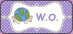Structuur in de klas brengen: kaarten voor op het prikbord. --> W.O. © Sarah Verhoeven