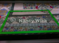 Auditioning quilting designs with plexiglass