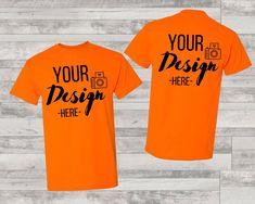 Shirt Template, Orange T Shirts, T Shirt Image, Blank T Shirts, Shirt Mockup, Photo Editor, Things To Sell, Unisex, Digital