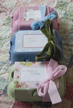 Renkli yumurta kutularından hediye kutusu yapalım