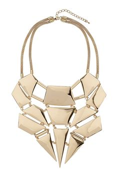 Team this great gold statement necklace with a simple tee to add a bit of glamour or wear it with an evening dress for that extra bit of wow! Women Accessories, Jewelry Accessories, Fashion Accessories, Fashion Jewelry, Bib Necklaces, Diamond Are A Girls Best Friend, Jewelery, Collar Necklace, Accessories