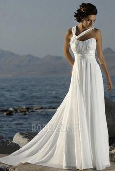 Robe+de+mariée+Empire+Chiffon+Plage+Fourreau+plissé+Exquisite