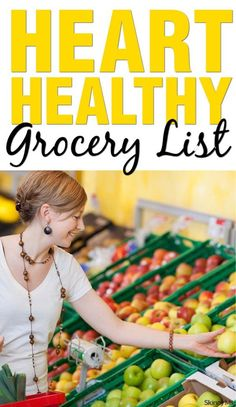 List Prevent heart disease with this heart-healthy grocery list!Prevent heart disease with this heart-healthy grocery list!Grocery List Prevent heart disease with this heart-healthy grocery list!Prevent heart disease with this heart-healthy grocery list! Heart Diet, Heart Healthy Diet, Healthy Diet Tips, Heart Healthy Recipes, Get Healthy, Healthy Weight, Healthy Choices, Heart Disease Diet, How To Live Healthy