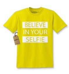 Believe In Your Selfie Kids T-shirt