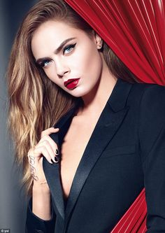Cara Delevingne, 24, has been unveiled as the face of YSL's new beauty campaign…