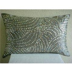 Designer Silver King Size Pillow Shams, Silver Pearls Kin... https://www.amazon.com/dp/B004W0F3XI/ref=cm_sw_r_pi_dp_x_IYPrybJ3MGH7J