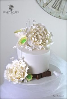 Wedding Bliss.... - Cake by RED POLKA DOT DESIGNS (was GMSSC)