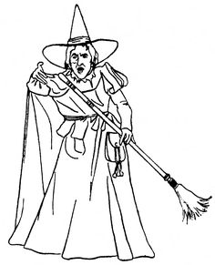 Wicked Witch Of The West Coloring Pages Wizard Oz Free Printable Wes