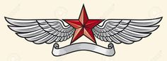wings and star tattoo - Google Search