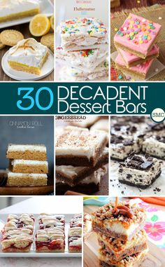 Oh my. Decadent is the right word for some of these dessert bar recipes. Click on the image to grab the recipes!