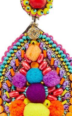 Embellished Drop Earrings by RANJANA KHAN Now Available on Moda Operandi
