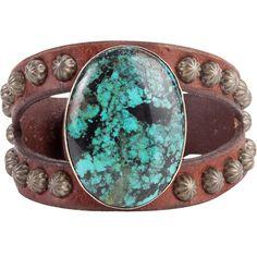 Women's The Rowdy Cowgirl Long Oval Turquoise Split Bracelet - $129.99 - #CowgirlChic