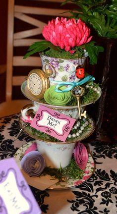 Alice Bridal Shower Baby In Wonderland Tea Party Centerpiece