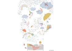 Affiche Tinou le Joly Sénoville - Quel vent ! - Poisson Bulle, Mes Habits Chéris - kidstore Récréatif - Décoration enfant