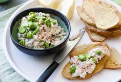 Regal Wood Roasted Salmon and Broad Bean Bruschetta