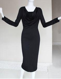 Beautiful Column, Sheath V-Neck Long Sleeves Tea Length Sheath Satin Mother of the Bride, Groom Dresses - US$ 115.99   BuyBuyStyle.com