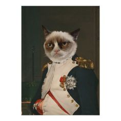 Grumpy Cat Classic Painting PosterOfficial Grumpy Cat Merchandise on Zazzle