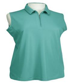 Ladies Sleeveless Golf Shirt by Bermuda Sands Apparel - Willow.  Buy it @ ReadyGolf.com Bermuda Sands, Womens Golf Shirts, Ladies Golf, Lady, Mens Tops, Jackets, Style, Fashion, Down Jackets