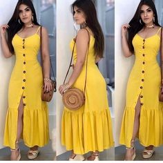 Cute Dresses, Casual Dresses, Short Dresses, Dresses With Sleeves, Summer Dresses, Fashion Sewing, Fashion Wear, Fashion Dresses, Classy Outfits