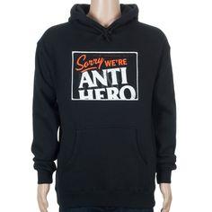 Anti Hero Sorry Hoodie Black