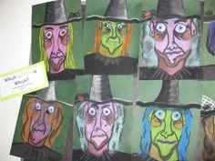 Chalk Pastel Witch Portraits, gr.4