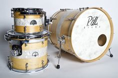 The Personal Kit of P.Ellis. Custom Drums made in Austin, TX