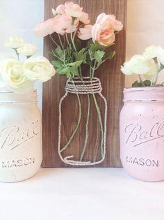 Mason jar string art string art rustic by UnpolishedandPretty