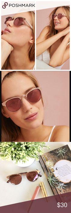 {Anthro} Rose Gold Sunglasses Anthropologie ett:twa brand Rockaway Wayfarer Sunglasses in rose gold. Mirrored lenses, metal frames.   NWT, no flaws.  Reasonable offers considered. Discounts on bundles. Anthropologie Accessories Sunglasses