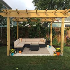 If you get cracking now, there's still time to build a pergola for outdoor entertaining. Plant a fast growing creeper and you will soon have a shady spot to sit and relax.