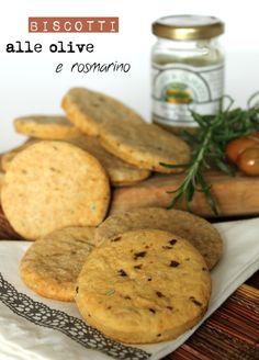 Biscotti salati alle olive e rosmarino, Salt Rosmary & Olives Biscuits
