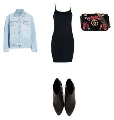 """""""Untitled #562"""" by aayushi3912 ❤ liked on Polyvore featuring Alexander McQueen, WithChic, Gucci and Alexander Wang"""