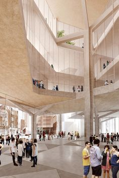 Interior Perspective. Image © Grafton Architects