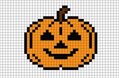 Halloween Pumpkin Pixel Art from BrikBook.com #jack-o'-lantern #halloween #pumpkin #lantern #candle #pixel #pixelart #8bit Shop more designs at http://www.brikbook.com