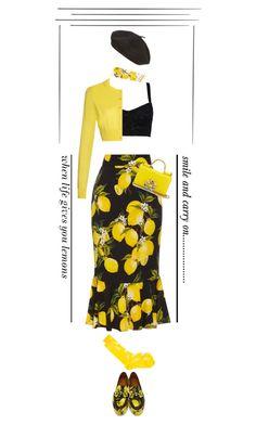 """When Life Gives You Lemons'"" by dianefantasy ❤ liked on Polyvore featuring Dolce&Gabbana, Parkhurst, Henrik Vibskov, women's clothing, women, female, woman, misses, juniors and dolceandgabbana"