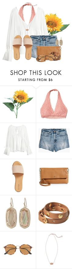 """""""If you have a Pinterest account please comment it!"""" by flroasburn ❤ liked on Polyvore featuring Hollister Co., H&M, Madewell, Hinge, Tory Burch, Kendra Scott and Ray-Ban"""