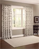 "Astoria Chenille Curtain Drapery Panels | 108"" inch or 120"" inch curtains : Leaf pattern"