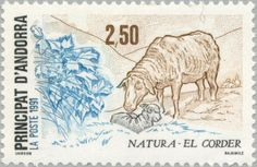 1991: Sheep (Ovis ammon aries) (אנדורה (צרפת)) (Nature preservation) Yt:AD-FR 405,Mi:AD-FR 426