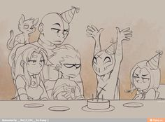 Teen titans red x's brithday he's totally doomed
