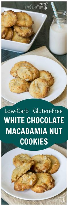 Think you can't have yummy white chocolate macadamia nut cookies on low carb? Think again! Check out this easy low carb macadamia nut cookie recipe. Healthy Low Carb Recipes, Low Carb Dinner Recipes, Cooking Recipes, Entree Recipes, Keto Dinner, Lunch Recipes, Easy Recipes, Keto Recipes, Low Carb Sweets