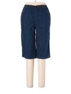 3016c2458bd Just My Size Women s Plus Size Pull On 17in Stretch Capris with 2 Pockets
