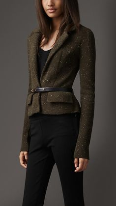 Burberry London Tailored Knitted Jacket